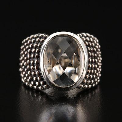 Michael Dawkins Sterling Rock Crystal Quartz Ring