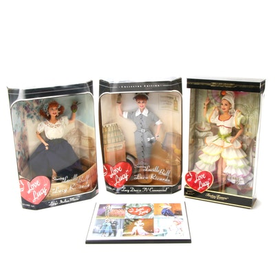 """Lucille Ball """"I Love Lucy"""" Dolls and Plaque"""