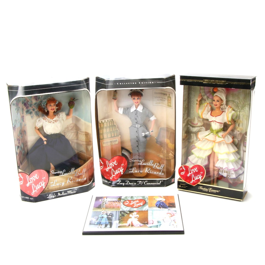"Lucille Ball ""I Love Lucy"" Dolls and Plaque"