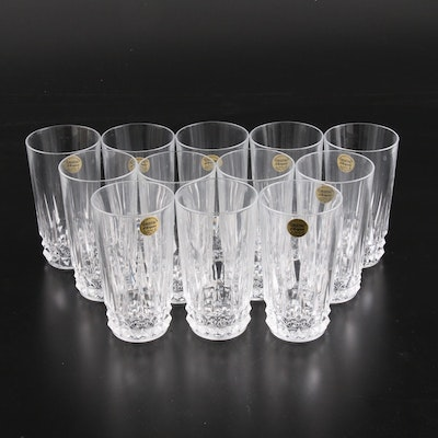 "W.M. Dalton ""Vérité"" French Crystal Water Glasses, Mid-20th Century"