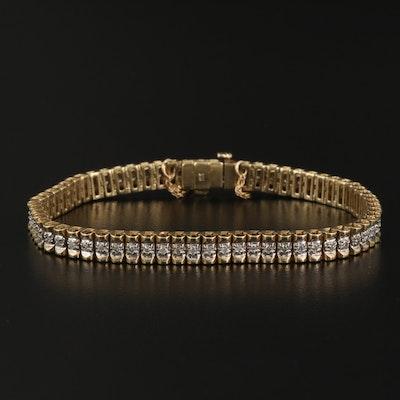 Vintage 10K Diamond Bracelet