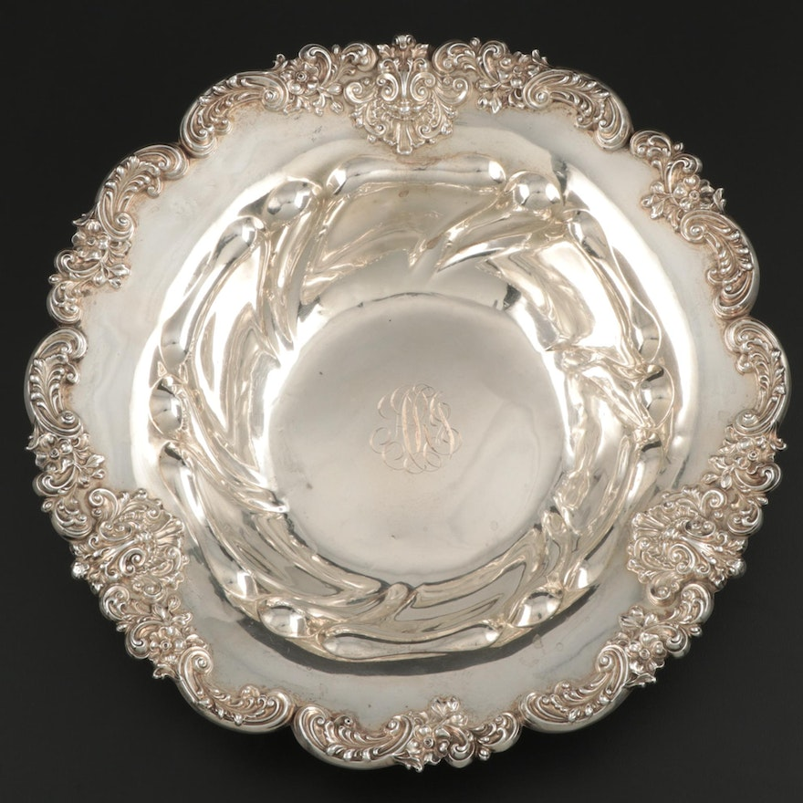 Graff, Washbourne & Dunn Sterling Silver Serving Bowl, Early to Mid 20th Century