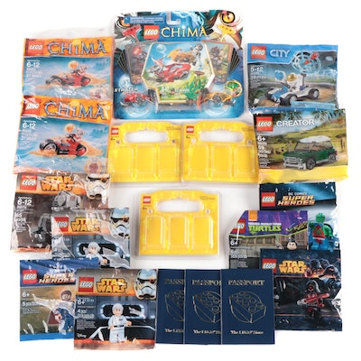 LEGOS: Chima, Star Wars, Ninja Turtles, DC Comics, and Creator Sets, New and Not