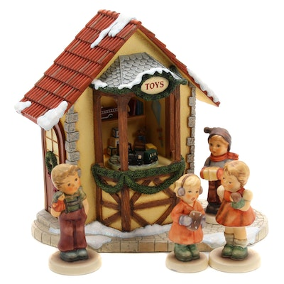 "Goebel ""Holiday Dreaming"" Music Box and Other Porcelain Hummel Figurines"
