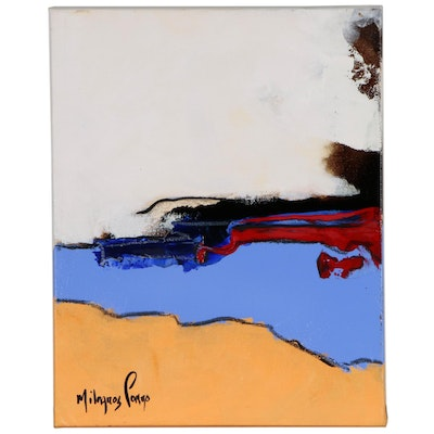 Milagros Pongo Abstract Mixed Media Painting