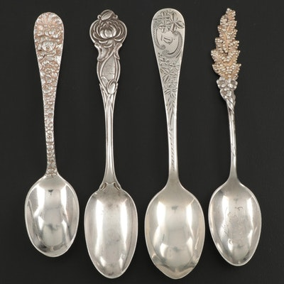 Reed & Barton, Wallace, and Other Sterling Silver Five O'Clock Teaspoons