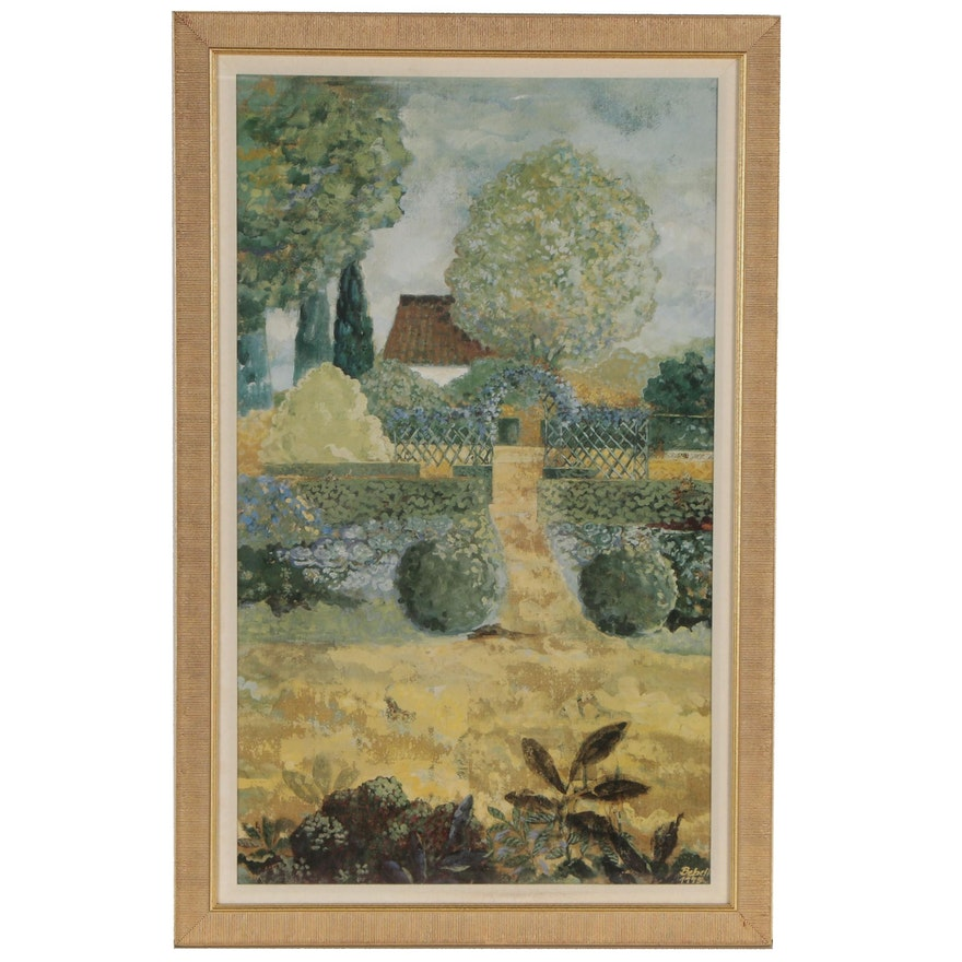 Offset Lithograph after Isabelle De Borchgrave Landscape, Late 20th Century