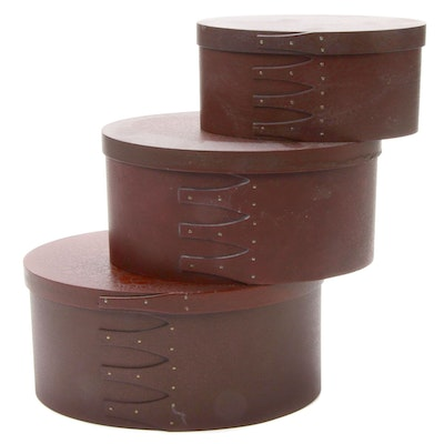 Embossed Nesting Oval Boxes