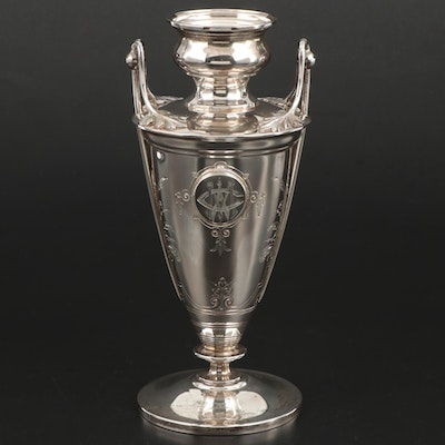J.E. Caldwell & Co. Coin Silver Handled Vase, Mid to Late 19th Century
