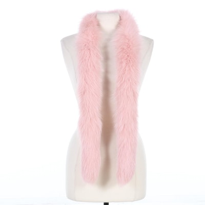 Christian Dior Dyed Pink Fox Fur Stole/Wrap