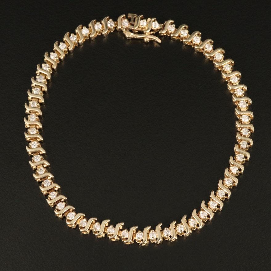 10K 1.50 CTW Diamond Bracelet