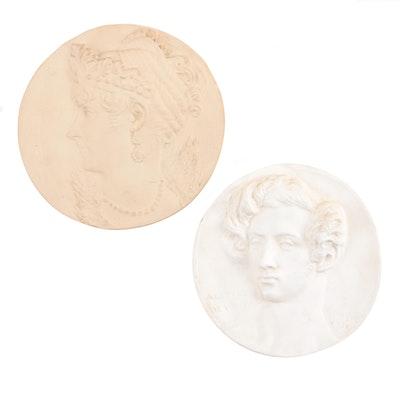 Stone Composite Museum Replica Plaques after Jacques-Louis David