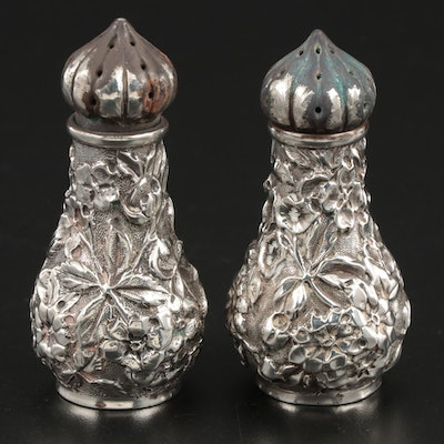 Ritter & Sullivan Sterling Silver Floral Repoussé Shakers, Circa 1905