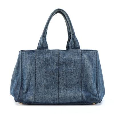 Prada Canapa Denim Tote Bag