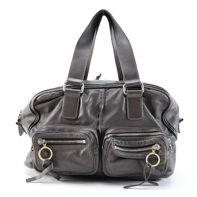 Chloé Betty Satchel in Dark Brown/Gray Leather