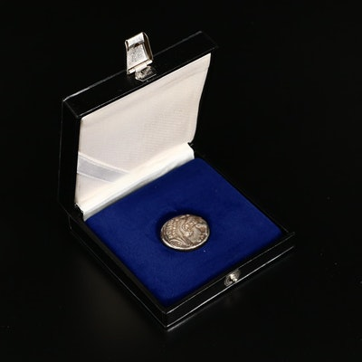 """Reproduction Ancient Greek Silver Tetradrachm of Alexander III, """"The Great"""""""