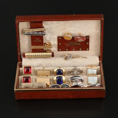 Vintage Jewelry Box of Anson and Swank Cufflinks