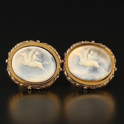 "Circa 1960 Danté ""Museum Masterpiece"" Pegasus and Cupid Cufflinks"