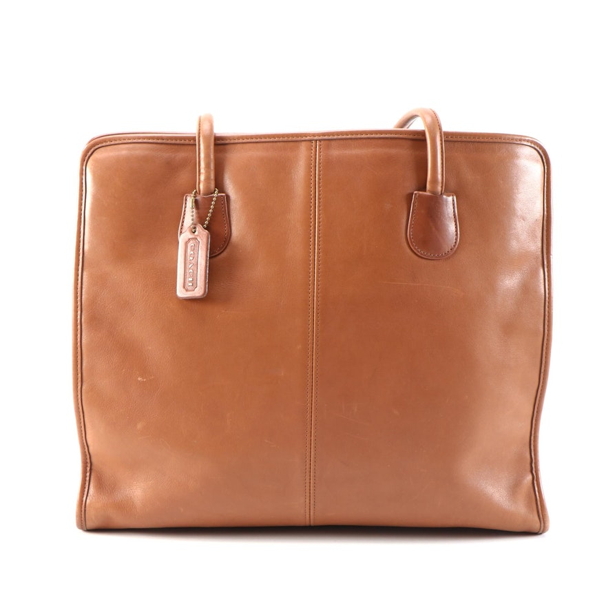 Coach Business Shoulder Bag in Caramel Glove-Tanned Leather