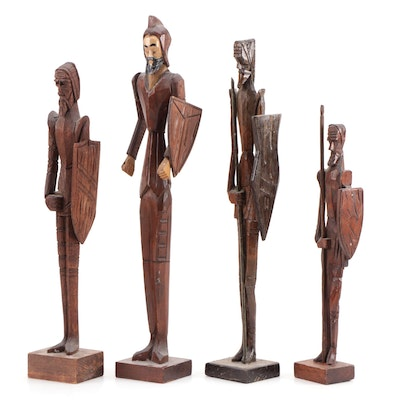 Spanish Style Carved Wood Soldiers