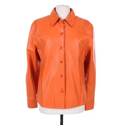 Originaux Par Pablo Leather Jacket in Persimmon