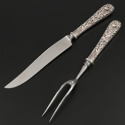 "S. Kirk & Son ""Repoussé"" Sterling Silver Carving Set"