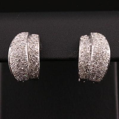 18K Gold 2.25 CTW Diamond Earrings