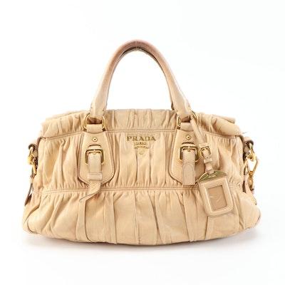 Prada Nappa Gaufre Leather Two-Way Handbag