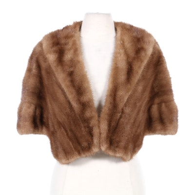 Mink Fur Capelet from Holt Renfrew, Mid-20th Century
