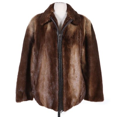 Men's Otter Fur Zipper Front Jacket from Marshall Field's, Late 20th Century