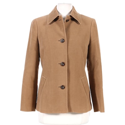 Burberry London Wool Button Front Jacket