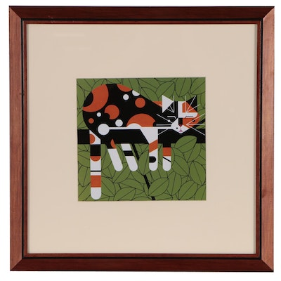 "Offset Lithograph after Charley Harper ""Limp on a Limb"""