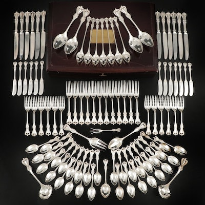 "Towle ""Old Colonial"" Sterling Silver Flatware with Storage Chest, 20th Century"