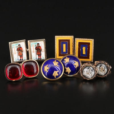 Vintage Cufflinks Featuring Swedish Sporrong &Co. and Shields Hickok
