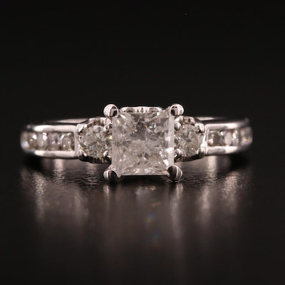 Zales 14K 1.35 CTW Diamond 'Past, Present, Future' Ring