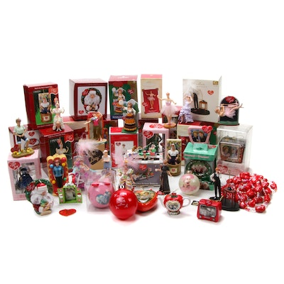 "Hallmark and Other ""I Love Lucy"" Christmas Ornaments"