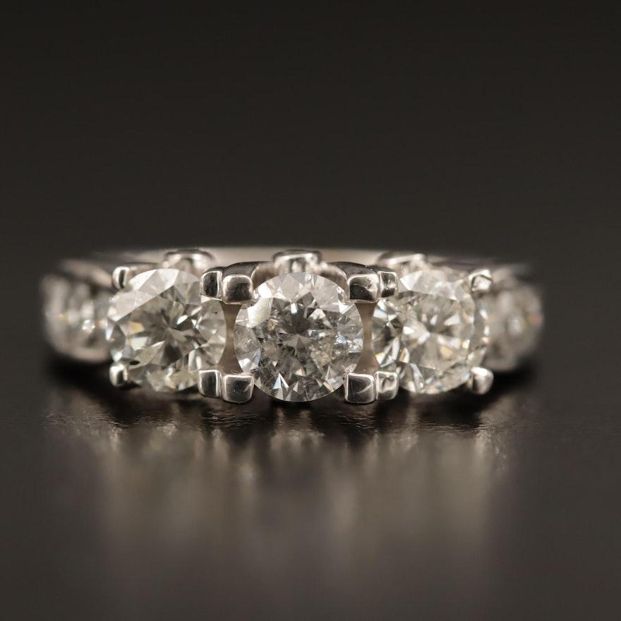 14K Gold 2.77 CTW Diamond Ring