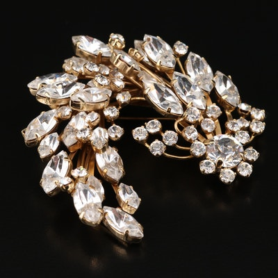 Dolce and Gabbana Crystal Spray Brooch