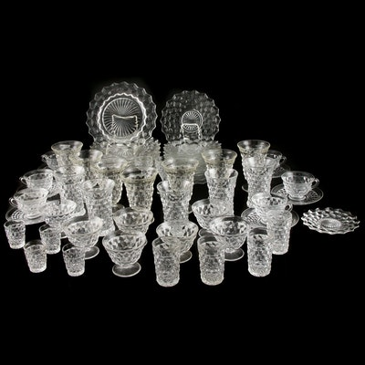 "Fostoria ""American"" and Coordinating Cut Glass Dinnerware"