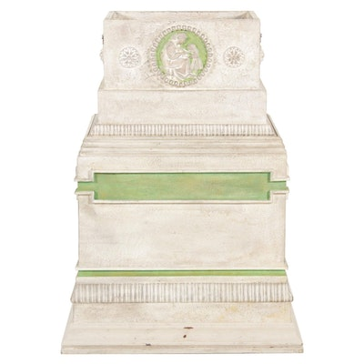 Neoclassical Style Handcrafted Wood and Gesso Planter