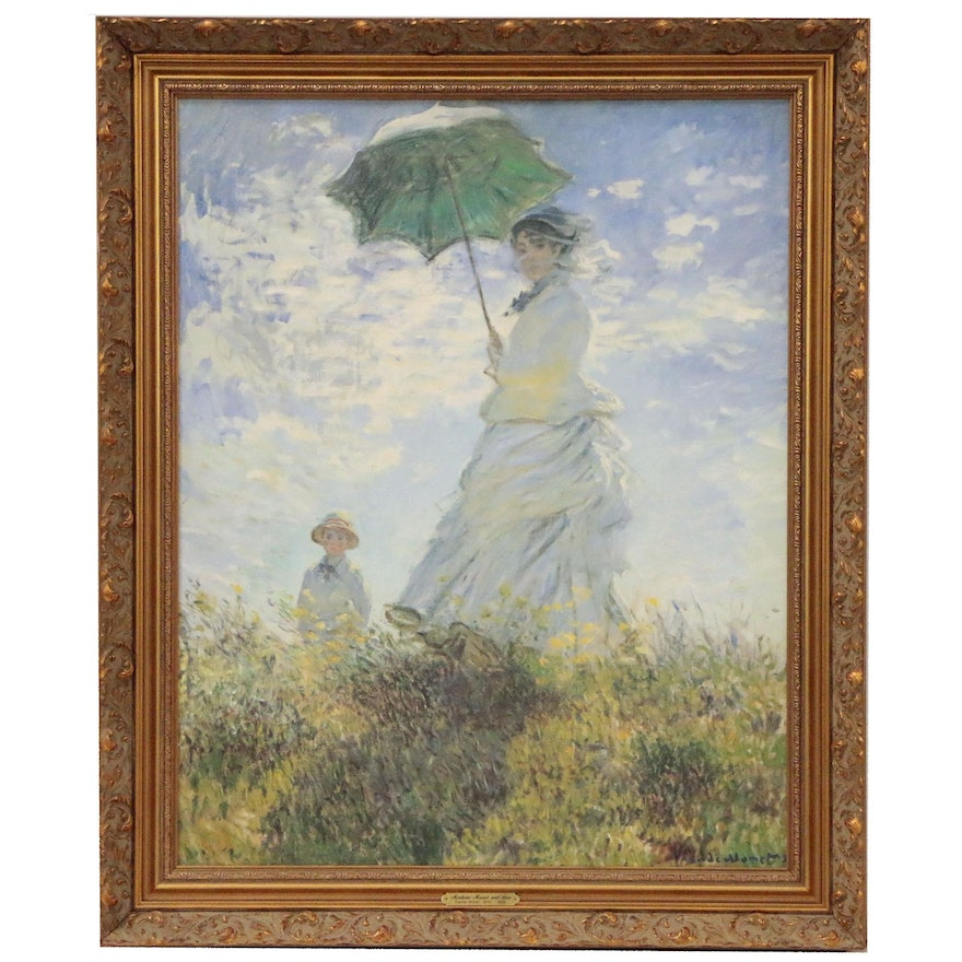 """Offset Lithograph after Claude Monet """"Woman with a Parasol"""""""