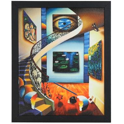 "Ferjo Abstract Giclée ""Eye of a Master"""