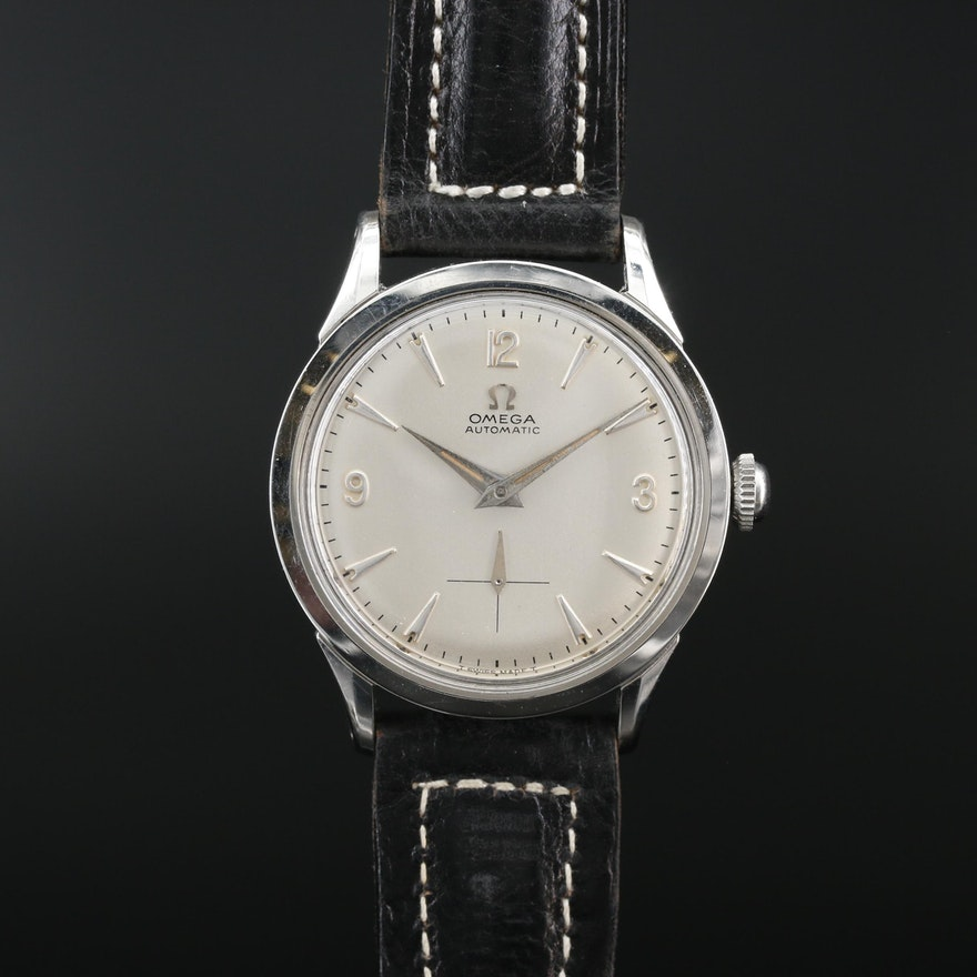 1958 Omega FX6040 Stainless Steel Automatic Wristwatch