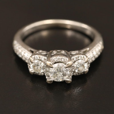 14K Diamond 1.02 CTW Diamond Ring