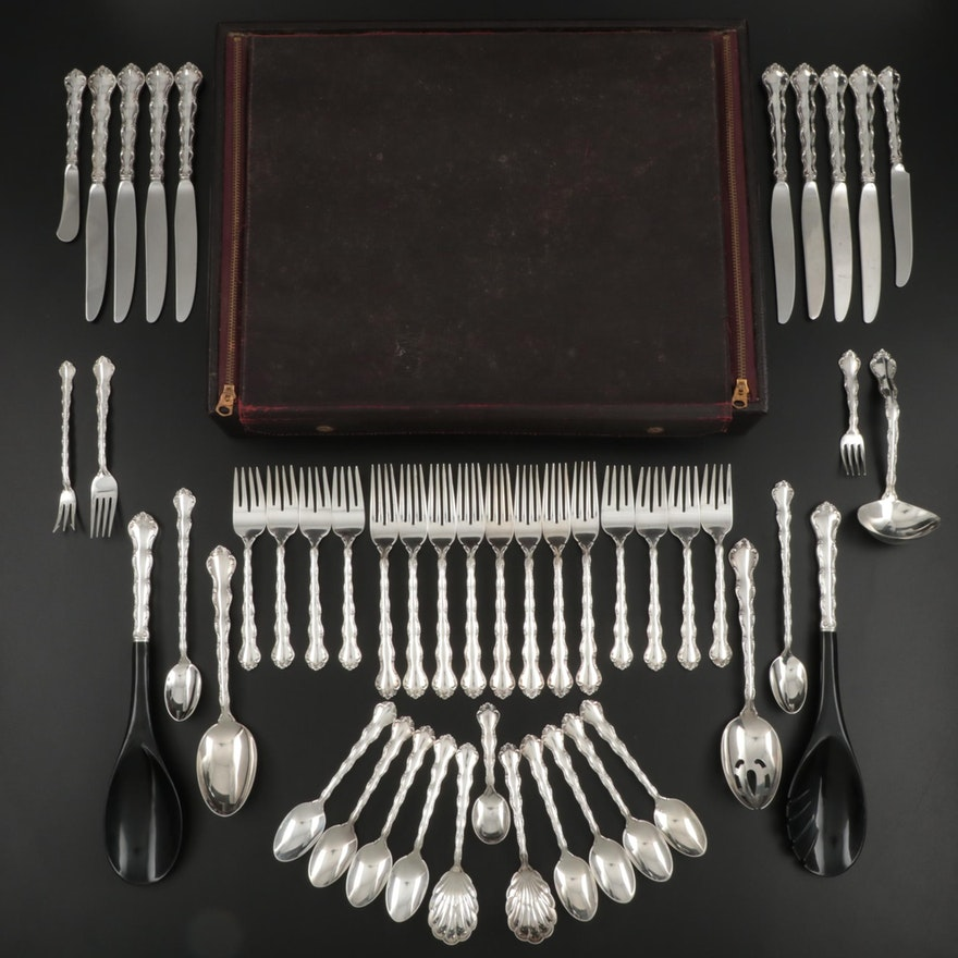 "Reed & Barton ""Tara"" Sterling Silver Flatware, Mid to Late 20th Century"