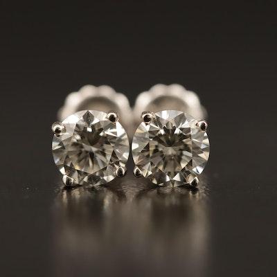 14K 1.49 CTW Diamond Stud Earrings