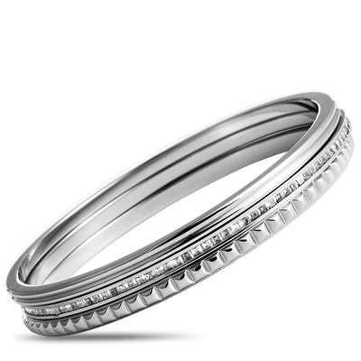 Calvin Klein Astound Stainless Steel and White Cubic Zirconia Bangle Bracelet Set