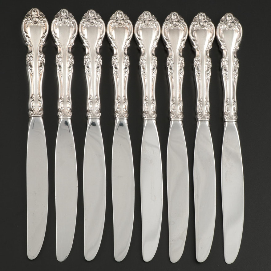 "Gorham ""Melrose"" Sterling-Handled Dinner Knives, Mid to Late 20th Century"