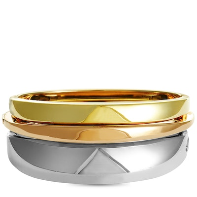 Calvin Klein Island Rose and Yellow Gold PVD-Plated Stainless Steel Bangle Bracelet Set