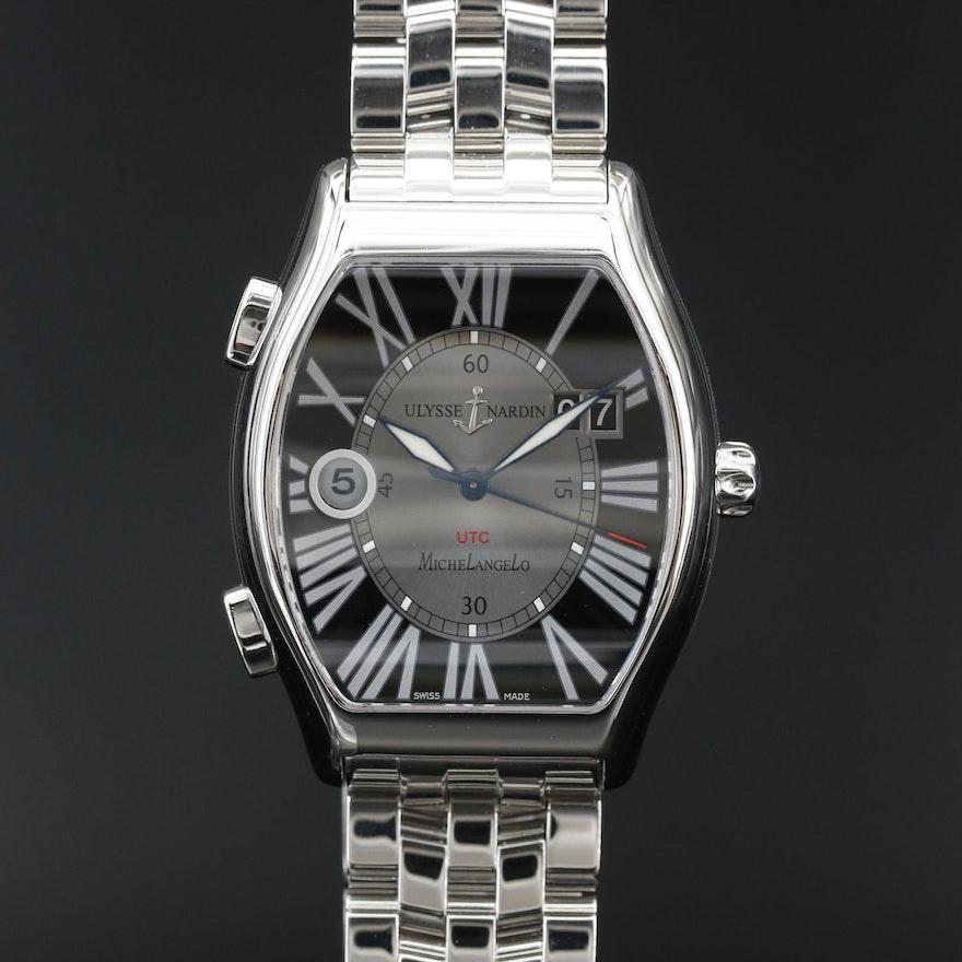 Ulysse Nardin Michelangelo Gigante UTC Stainless Steel Automatic Wristwatch